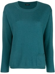Aspesi Cashmere Fine Knit Sweater Blue