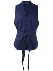 Dsquared2 'Karate' Gi Style Gilet Blue