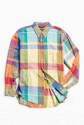 Urban Outfitters Vintage Nautica 90S Yellow Madras Button Down Shirt