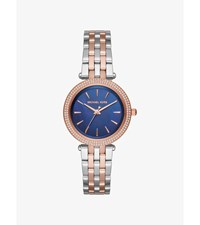 Darci Pave Two Tone Watch Silver