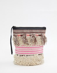 Cleobella Gabby Textured Tassel Backpack Multi