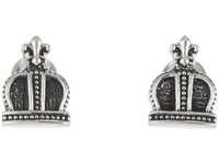 King Baby Studio Imperial Crown Post Earrings Silver Earring