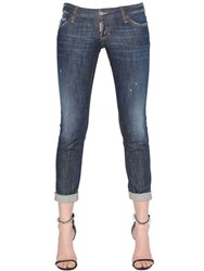 Dsquared Pat Washed Cotton Denim Jeans