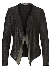 Vera Mont Textured Waterfall Jacket Black