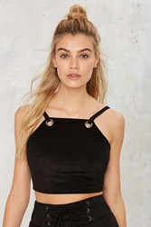 After Party Vintage Like A Charm Vegan Suede Crop Top