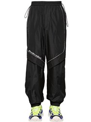 Juun.J Nylon Pants W Zips And Piping Black