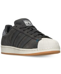 Adidas Men's Superstar Winter Suede Casual Sneakers From Finish Line Solid Grey Solid Grey Uni