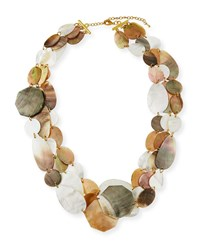 Viktoria Hayman Three Strand Mother Of Pearl Necklace Multi