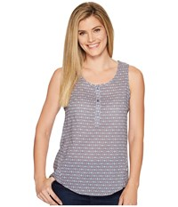 The North Face Touring Tank Top Coastal Fjord Blue Floral Print Women's Sleeveless