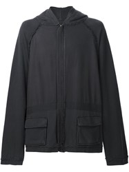 Haider Ackermann Oversized Hooded Jacket Grey