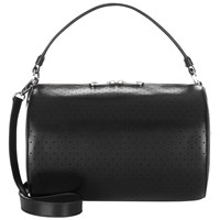Jaeger Chunky Zip Leather Bowler Bag Black