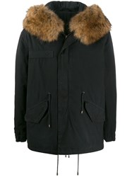 Mr And Mrs Italy Hooded Parka Coat Black