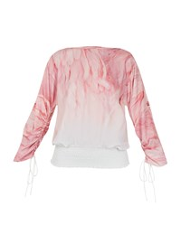 Ted Baker Avvi Angel Falls Sheared Sleeve Top Pink