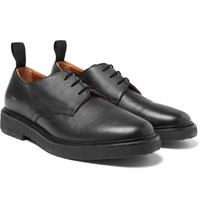 Common Projects Cadet Saffiano Leather Derby Shoes Black