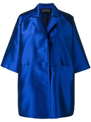 Gianluca Capannolo Oversized Wide Sleeves Coat Blue