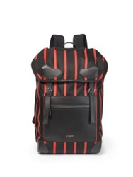 Givenchy Striped Nylon Rider Backpack Black Red