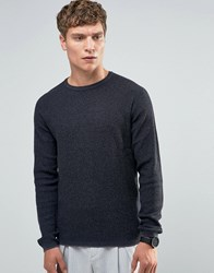 Selected Homme Crew Neck Knit Blue Nights Grey
