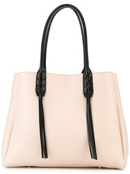 Lanvin Fringed Tote Women Leather One Size Nude Neutrals
