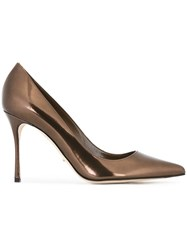 Sergio Rossi Pointed Toe Pumps Metallic