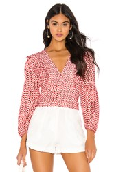 Bardot Camille Blouse Red