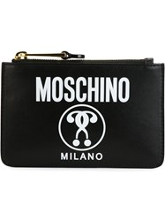 Moschino Logo Print Coin Purse Black