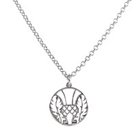 Hoochie Mama Thistle Medallion Necklace Silver