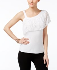 Thalia Sodi One Shoulder Top Only At Macy's Bright White