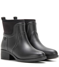 Tory Burch April Rubber Ankle Boots Black