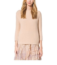 Michael Kors Boatneck Cashmere Sweater Nude