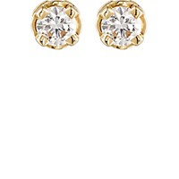 Hoorsenbuhs Women's White Diamond Studs No Color