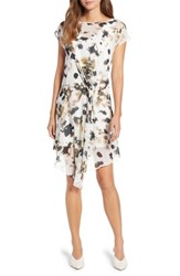 Kenneth Cole New York Gathered Front A Line Dress Urban Camo Multi
