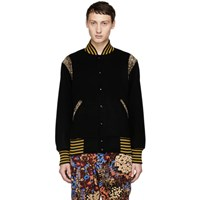 Needles Black Award Bomber Jacket