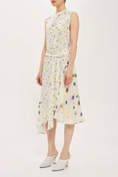 Topshop Ditsy Ink Dress By Boutique Multi