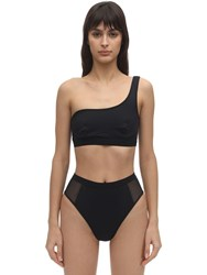 Stella Mccartney Sporty Econyl Mesh Bikini Top Black