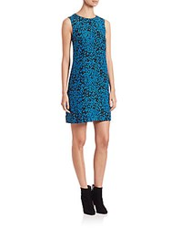 M Missoni Silk Python Print Shift Dress Black Blue