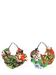 Missoni Large Cotton Poplin Earrings Multicolor