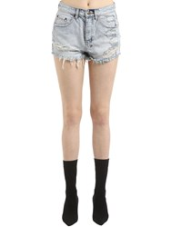 Ksubi Tongue N Cheek Denim Shorts Blue