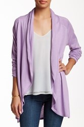 Cullen Circle Open Front Silk Blend Cardigan Purple