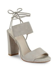 Kenneth Cole Dess Canvas Lace Up Dress Sandals Grey