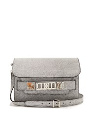 Proenza Schouler Ps11 Mini Leather Shoulder Bag Black White
