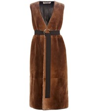 Marni Fur Gilet Brown