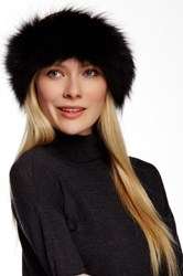 Dena Genuine Fox Fur Headband Black