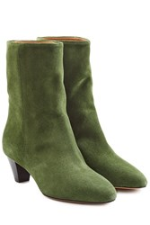 Etoile Isabel Marant Suede Ankle Boots Green