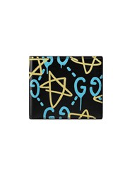 Guccighost Wallet Men Leather One Size Black