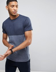 Bellfield T Shirt With Contrast Panel Navy