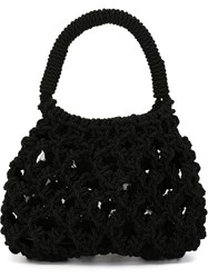 Simone Rocha Crochet Tote Bag Black