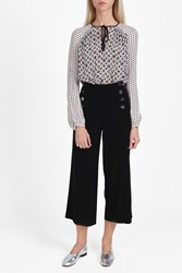 Derek Lam Wide Leg Sailor Trousers Black
