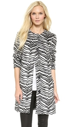Bb Dakota Moselle Zebra Coat Black