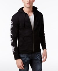 Inc International Concepts Men's Embroidered Sleeve Hoodie Only At Macy's Black