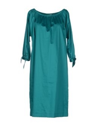 Nine Knee Length Dresses Emerald Green